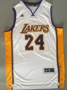 NWT Men's Kobe Bryant #24 Los Angeles Lakers Swingman Jersey White ...