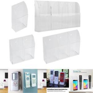 TV-Air-Conditioner-Remote-Control-Holder-Case-Acrylic-Wall-Mount-Storage-Box