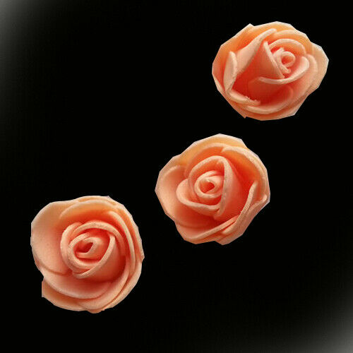 100 PE FOAM ROSE HEAD ARTIFICIAL FLOWER FOR DIY BEAR DOLL PARTY DECOR UK STOCK