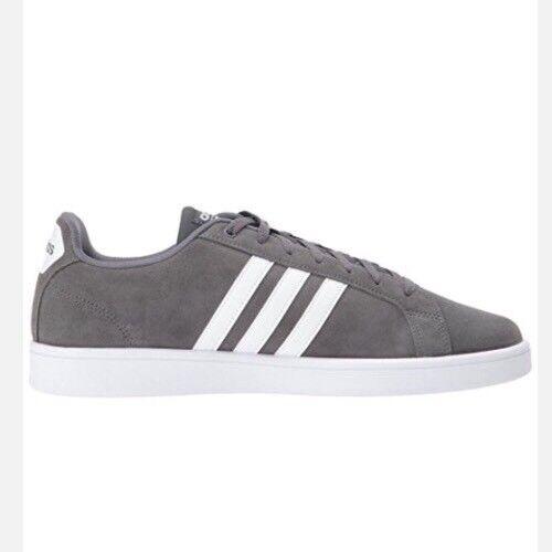 Adidas Neo Cloudfoam CF Advantage Men's Suede Sneakers Shoes DA8804 Gray Comfortable