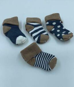12 Pairs Toddler Baby Anti-Slip Crew Prewalker Ankle Cotton Grip Socks Boy Girl
