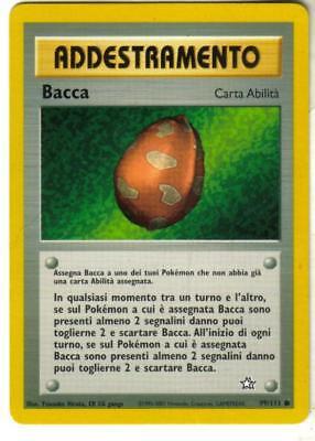 COMUNE CARTA  POKEMON BACCA IN ITALIANO 99//111 ADDESTRAMENTO