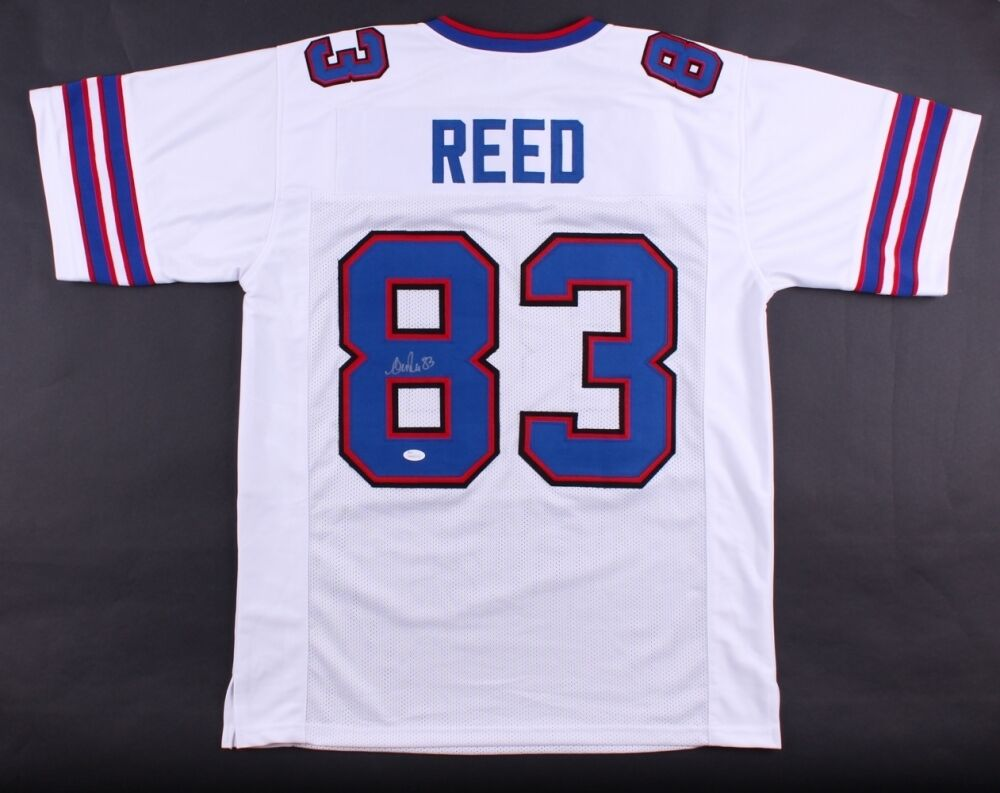 Andre Reed Signé Factures Maillot (Signature Source) 7xpro Bol grand Récepteur