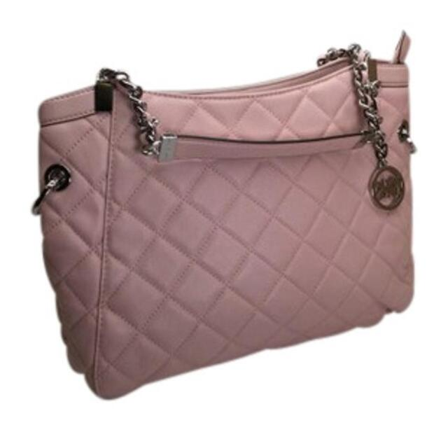 698a56d3846451 Michael Kors Susannah Medium Shoulder Tote in Blossom Pink Quilted ...