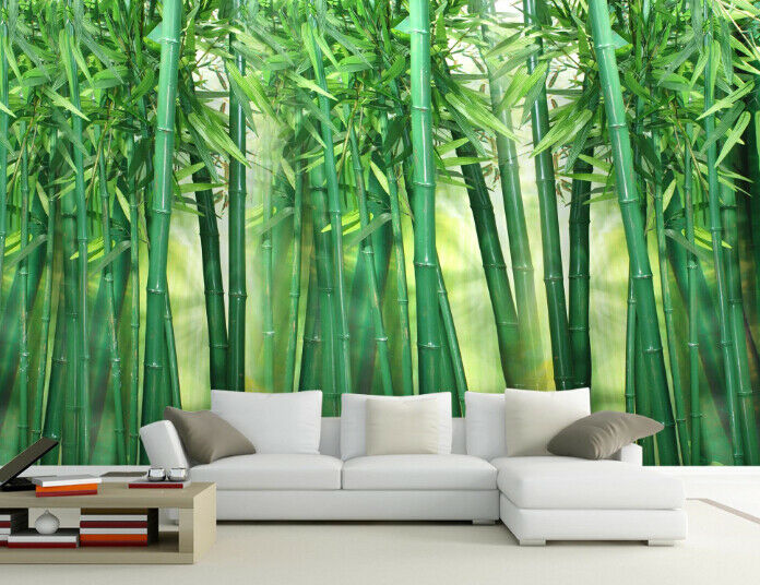 3D Grüner Bambus Wald 7 Tapete Wandgemälde Tapete Tapeten Bild Familie DE Summer | Hervorragende Eigenschaften  | Online Outlet Shop  | Schnelle Lieferung