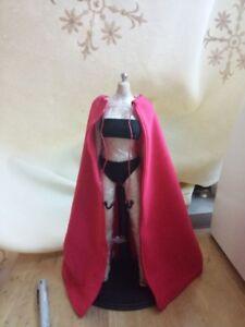 """Handmade 1:6th Black V For Vendetta Cloak Cape Model For 12/"""" Female Male Figure"""