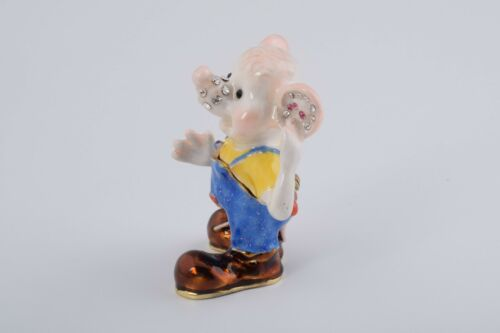 Zodiac rat Trinket box by Keren Kopal Austrian Crystal Jewelry box Faberge