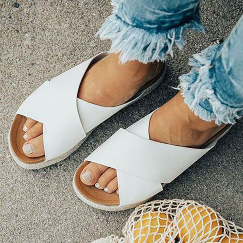 Damen Sommer Plateau Wedges Sandalen Keilabsatz Offene Zehen Zehentrenner Schuhe