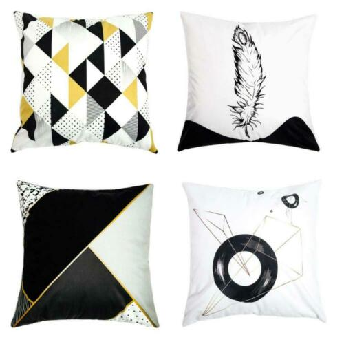 Je Veux Home Double Sided Throw Pillow Covers Geometric Feather
