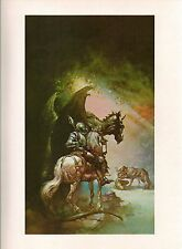 """1978 Full Color Plate """"The Dragon and the George"""" by Boris Vallejo Fantastic GGA"""