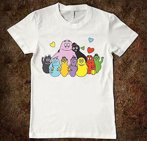 Dettagli Su T Shirt Bambino Barbapapà Con Famiglia Immagine Di Cartoni Animati Per Bambini