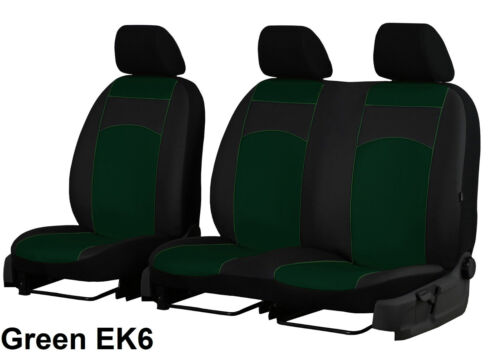 VOLKSWAGEN T6 2+1 2015 ONWARDS ECO LEATHER TAILORED SEAT COVERS MADE TO MEASURE