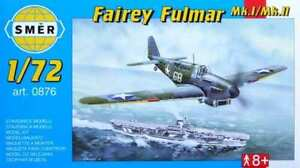 Fairey-Fulmar-Mk-I-II-Britannique-Marine-Fighter-1-72-Modele-Kit-Smer-0876