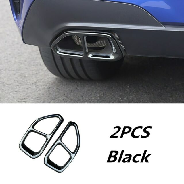 Black Car Rear Exhaust Muffler Tip End Pipe Trim For BMW 3