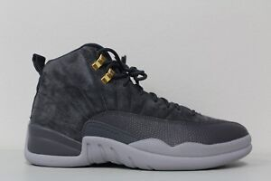39df72f74dea Nike Mens Air Jordan 12 Retro Dark Grey Wolf Gray Suede 130690 005 ...