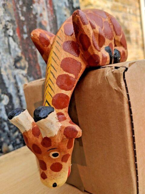 8cm Hand Carved Wooden Giraffe