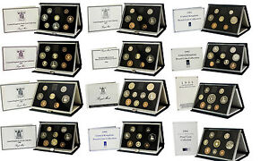 Royal-Comme-neuf-Proof-Ensembles-Bleu-1983-To-Deluxe-1999-cadeau-d-039-anniversaire-piece-annee-sets