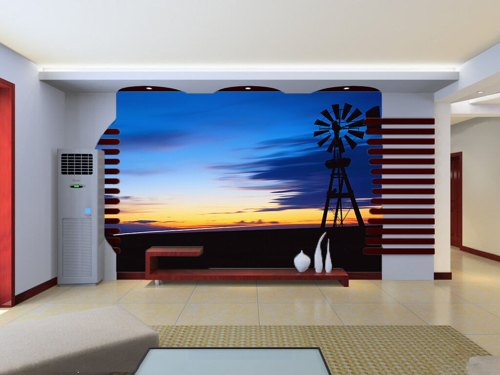 3D Dämmerung Himmel 0565 Fototapeten Wandbild Fototapete BildTapete Familie