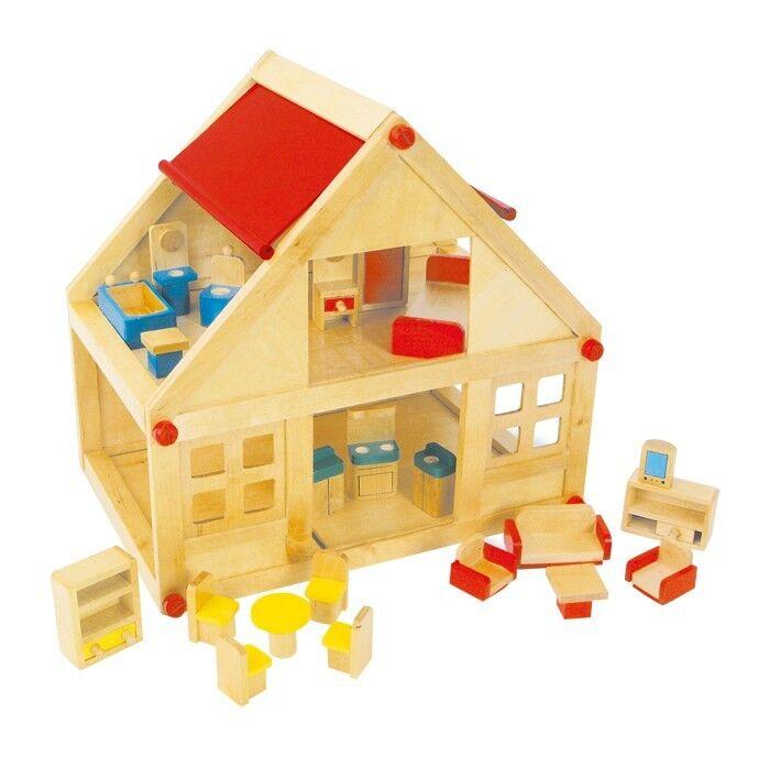 Casa delle bambole completa di mobili - Legler casetta 7253