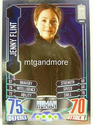 #024 Jenny Flint - Foil - Alien Attax Doctor Who - 50th Anni Modieuze Patronen