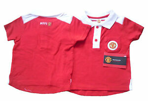 Bebe-garcons-polo-top-T-shirt-Manchester-United-9-23-mois