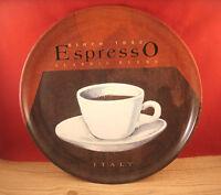 Coffee Espresso Italy Con Panna Plastic Serving Tray Plate Dish 13 1/2