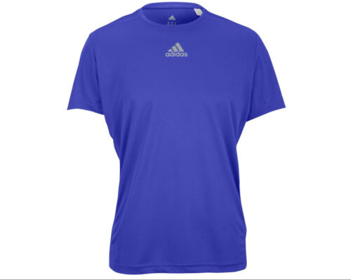 Adidas Men/'s Sequencials Money Short Sleeve Tee White//Blue M-XL NWT