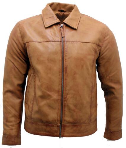 Tan Men's Nappa Retro Biker Jacket Leather wHq4HnSp