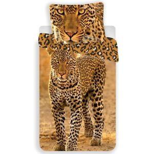 Leopard-Set-Housse-de-Couette-Simple-Europeen-Coton-Literie-Animal-Photo-Imprime