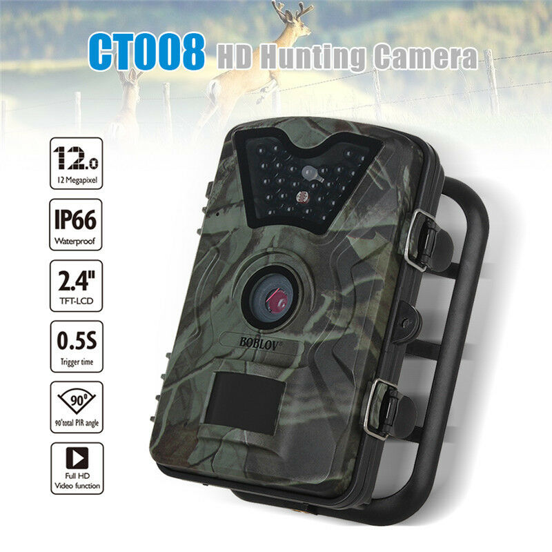 HD 1080P 12.0MP Hunting Scouting Game Trail Camera Game Wildlife IR 2.4  Screen