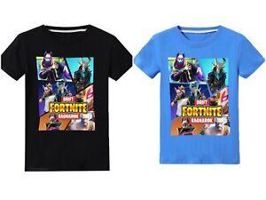 Boys kids Fortnite Ragnarok Drift Victory Raven Black Blue T-shirt top game 4-14