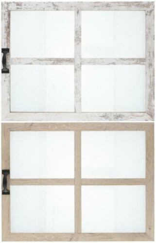 Rustic Window Style Wooden Wall Mounted Hanging 45x35cm Photo Frame for 4 Photos