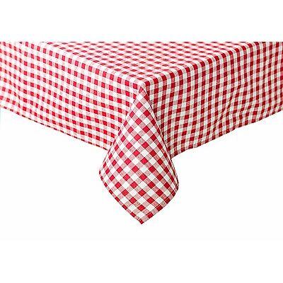 Tischdecke für Biertische Bauernkaro kariert Züchen Vichy Baumwolle rot-weiß
