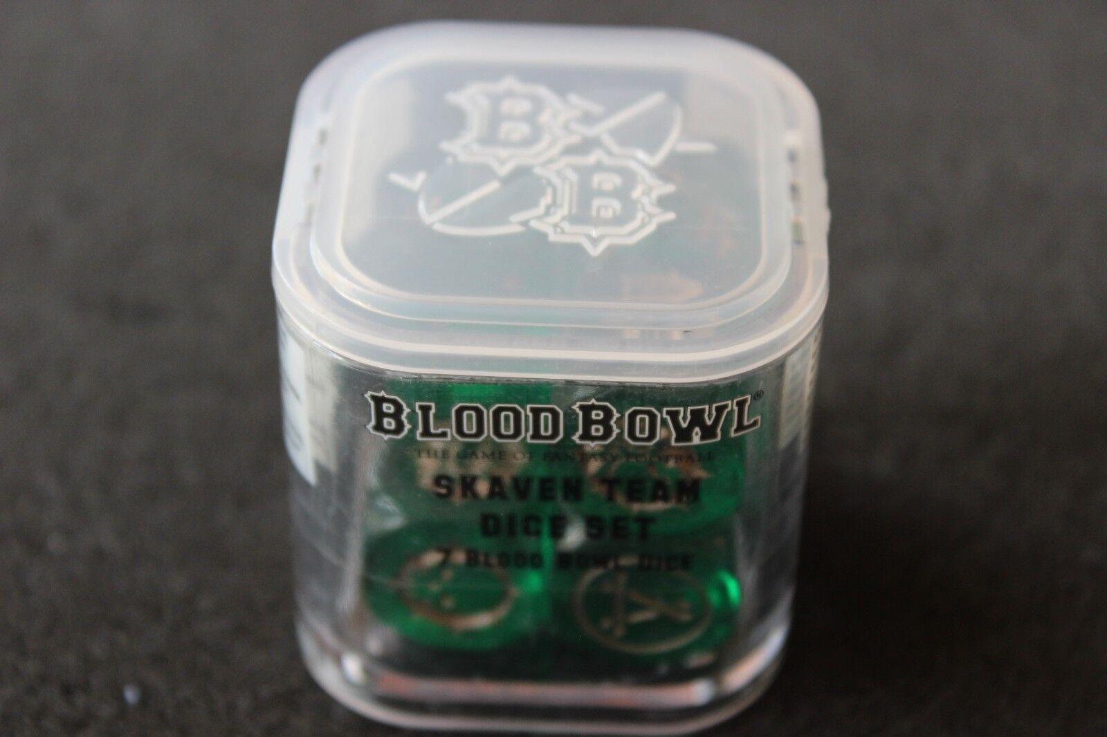 gran descuento Juegos Workshop Workshop Workshop BloodBowl SKAVEN equipo Dados Cubo Set Nuevo Sellado GW Blood Bowl  mejor calidad mejor precio