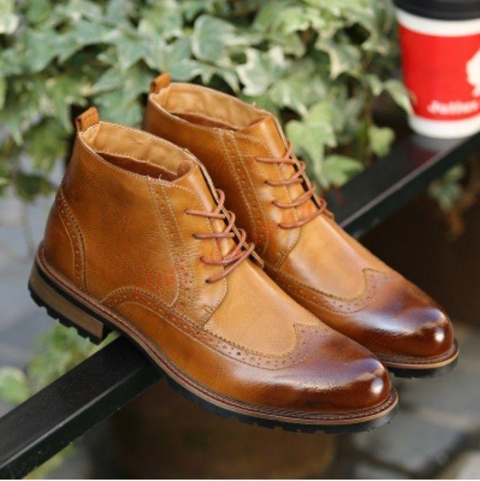 Vintage allacciarsi le scarpe alte uomini nuovi stivaletti fashion blog inglese scarpe