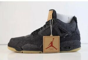Details about Nike Air Jordan 4 IV Retro Levis NRG Black Denim WTag Size 7US GS DS In Hand