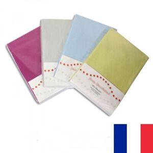 Drap Housse 140 - 160 x 200 cm Lit 2 Personnes 100% Coton Couleur au Choix