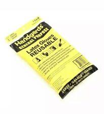 5 Pairs Latex Yellow Heavy Duty Utility Reusable Glove Large 12 Length Bulk