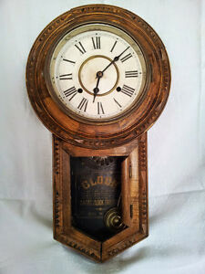 Collectibles Antique Wall Clock Pre 1930 Made In Japan Ebay