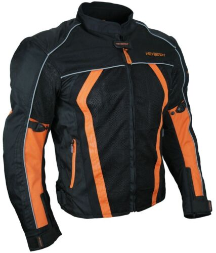 L Sommer Motorradjacke Airmesh Motorrad Jacke Schwarz Orange Gr