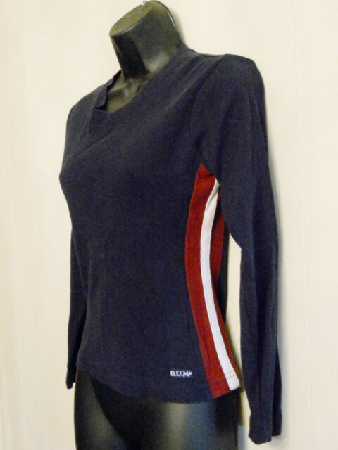 Grunge B.U.M. Equipment Shirt size Medium Knit Top with Side Stripes ✿ 90s VTG