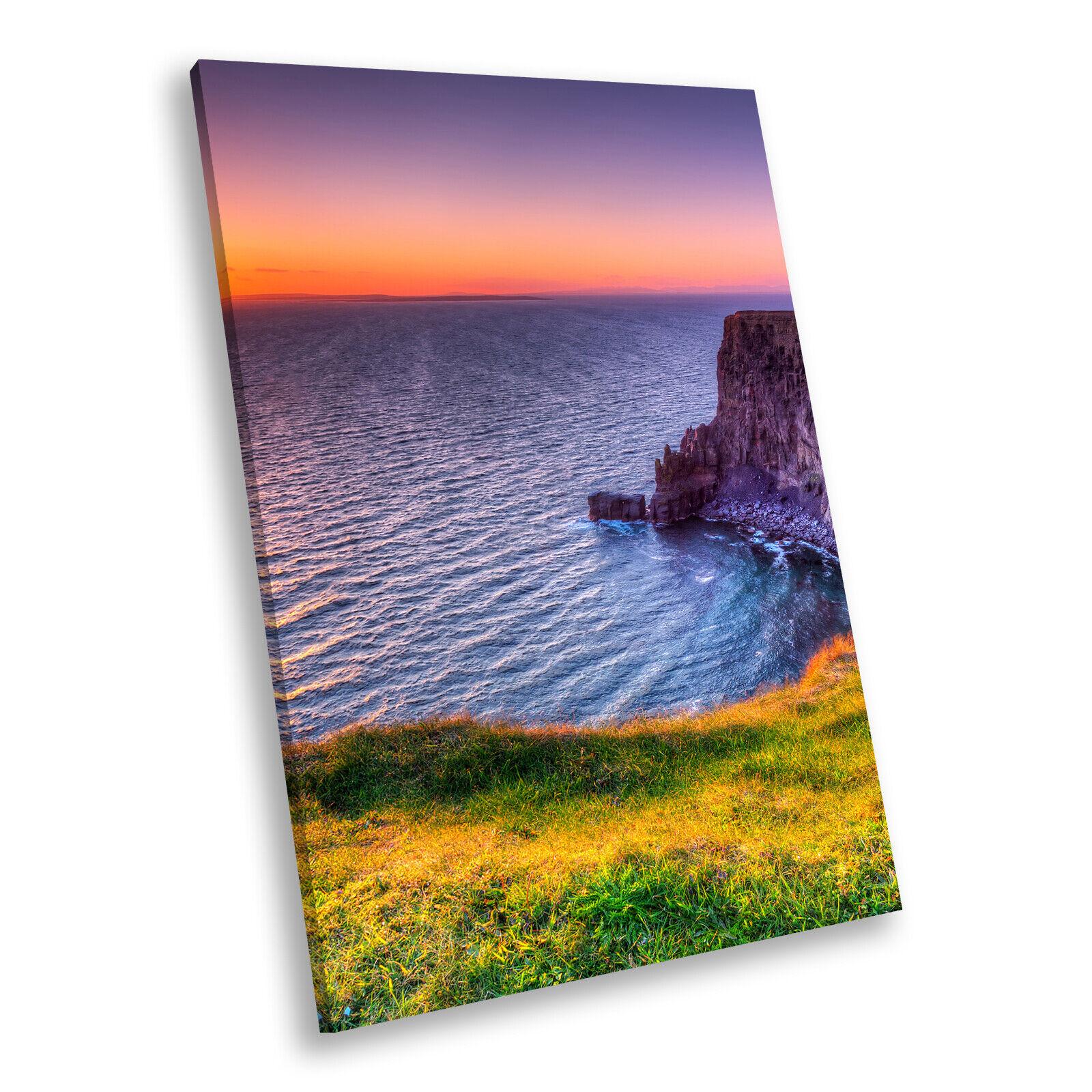 Colourful Cliff Sunset Nature Portrait Scenic Canvas Wall Art Picture Prints