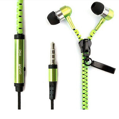 Hot Sale 3.5 mm In-ear Zip Stereo Hands-free Headphone Earphone Earbud+Mic
