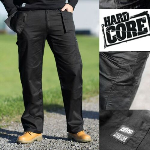 Hard Core Tough Grit Black Trade Work Cargo//Combat Trouser Knee Pad Pk 30-40/""