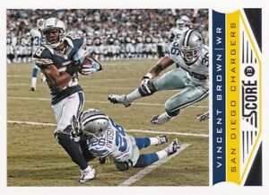 2013 Panini Score Football Cox, #182 Vincent Brown-afficher Le Titre D'origine Rr34iax2-07234022-762303615