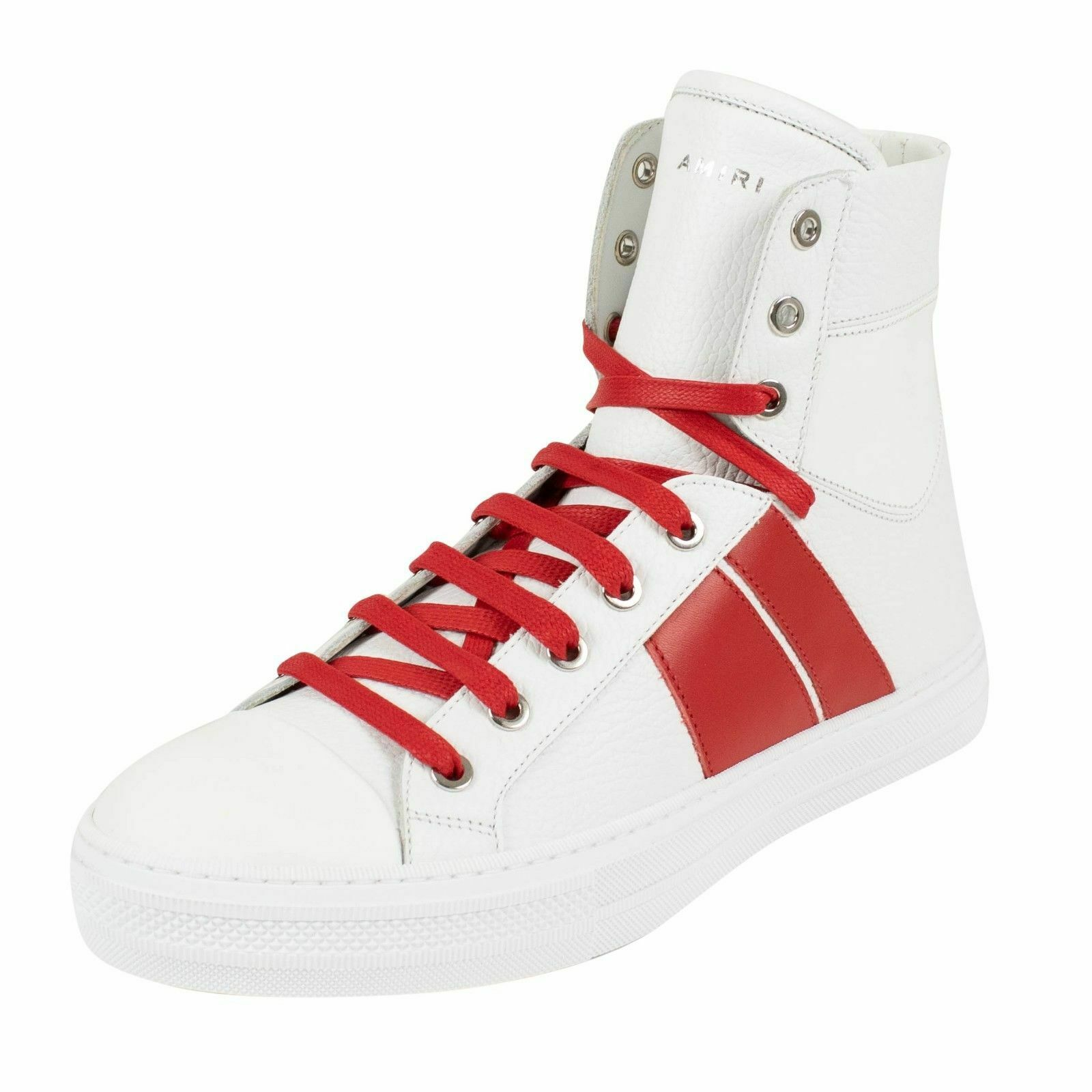 NIB AMIRI 'Sunset' White Red Leather Sneakers shoes Size 8 US 41 EU