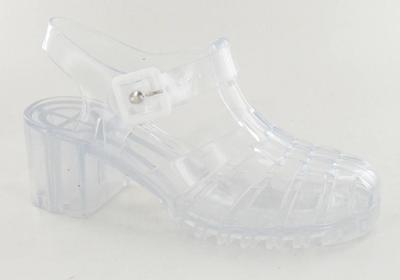 6b55a85c5fa ... Mujer REBAJAS Ajustadas Retro 90s Transparente Gel Tacón Zapatos Rosa  Claro