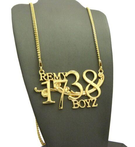 """Plain Remy1738 Boyz Pendant 3mm 30/"""" Cuban Chain Hip Hop Necklace XZP36GCC"""