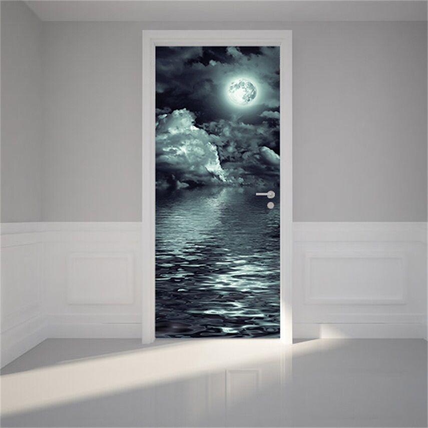 3D Mondschein 78 78 78 Tür Wandmalerei Wandaufkleber Aufkleber AJ WALLPAPER DE Kyra  | Online-Shop  | Louis, ausführlich  | Moderate Kosten  2219e7
