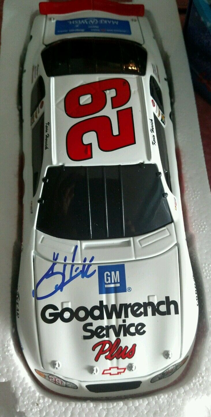 Kevin Harvick mano firmado GM Goodwrench Service Plus pide un deseo 1 24